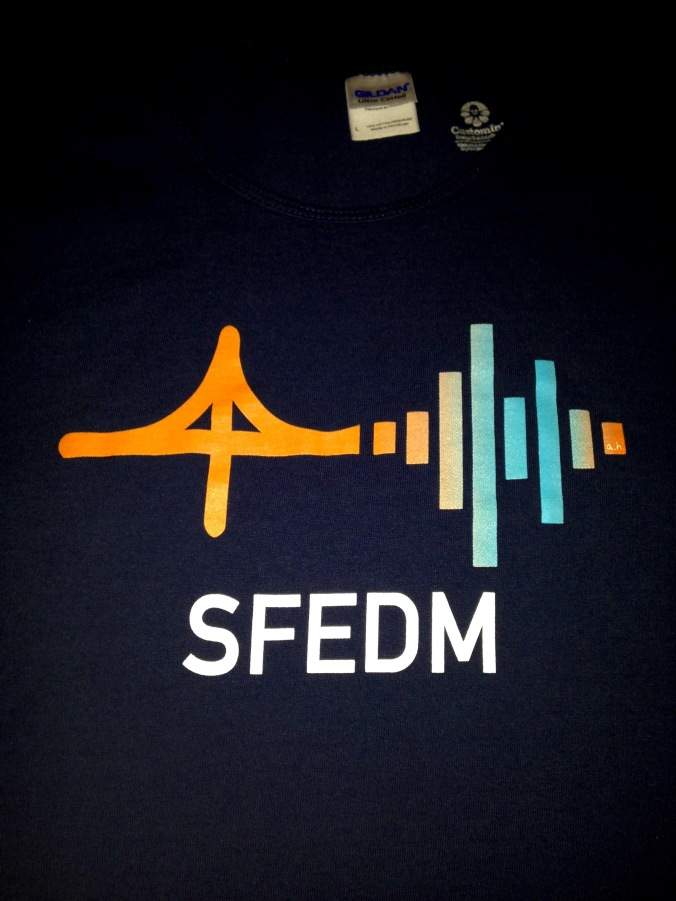 On Friday, I'll be representing the San Francisco EDM Meetup Group with our awesome logo