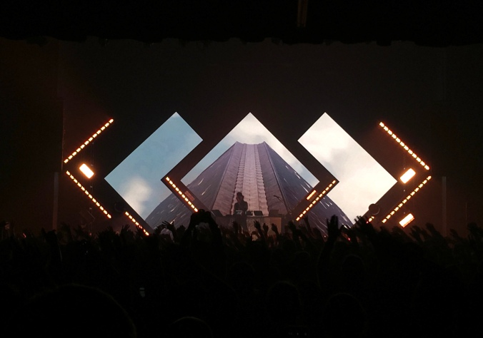 Madeon's Pixel Empire Tour features impressive graphics that make great use of his stage rig.