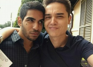Boyfriends Juan Guerrero and Christopher Leinonen. Juan was killed at Pulse, and Christopher is unaccounted for. Christopher (Drew) is a member of the EDC Gays group on Facebook.